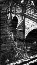 P395 Clare Bridge greetings card